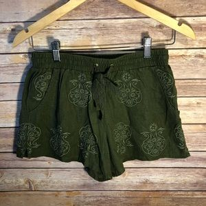 Anthropologie Mermaid Malini Shorts Embroidered XS